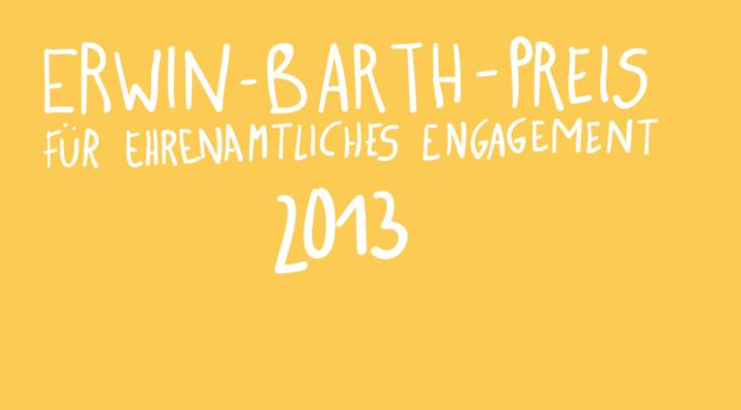 Erwin-Barth-Preis 2013 geht an die Initiative Bundesplatz e.V.
