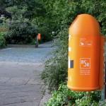 Neue Papierkörbe am Bundesplatz