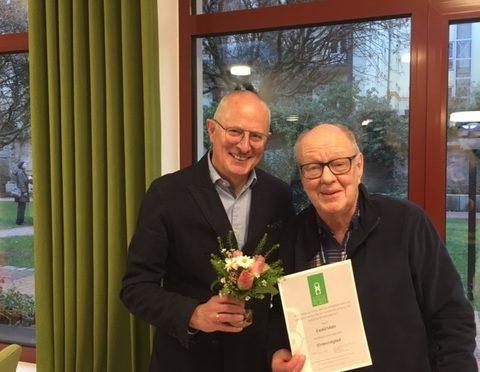 Verleihung der Ehrenmitgliedschaft an Ewald Mahr