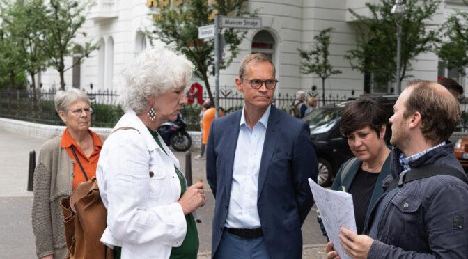 Besuch vom Regierenden Bürgermeister Michael Müller am Bundesplatz