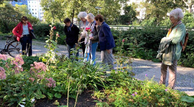 Begehung Grüngruppe mit Mona Kerkow zur Nachbepflanzung Ostseite